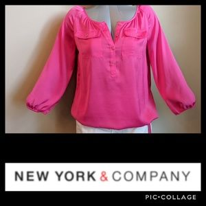 Pink blouse Tag: Small Fit: Large